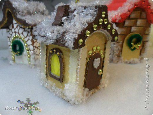 Поделки на новый год сказочный зимний домик