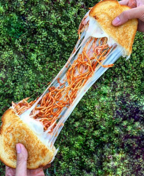 Spaghetti Grilled Cheese - Ooey-Gooey Grilled Cheeses That You Need In Your Life - Photos