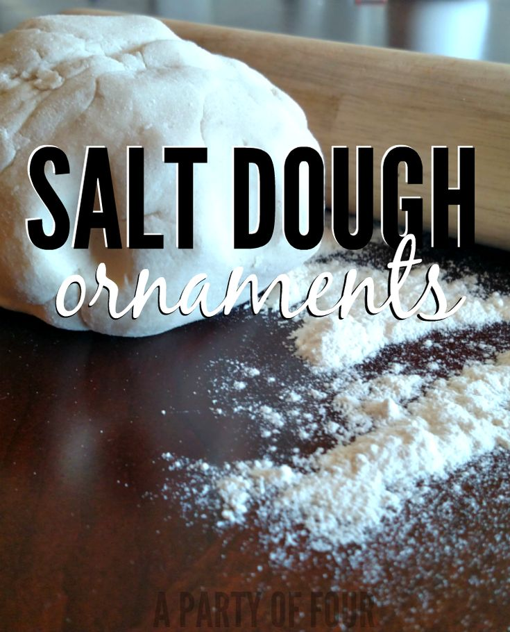 Salt Dough with flour and rolling pin