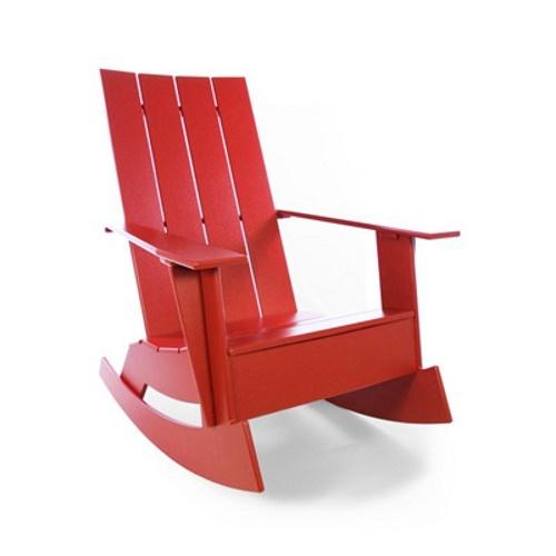 Red Adirondack Rocking Chair Furniture Adirondack