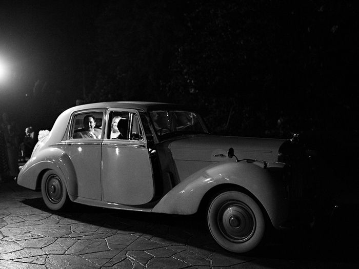 Brooke Matt Left Their Reception In A Vintage Car From Auto Birmingham Alabama