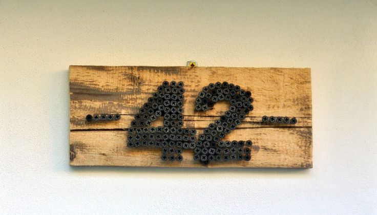 Screw house number (full tutorial on our website)