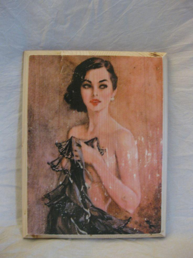 LOVELIES (1), wood board, wood wall art, Handmade wood print. Home decor, 1940's. di KnockOnWoodCraft su Etsy