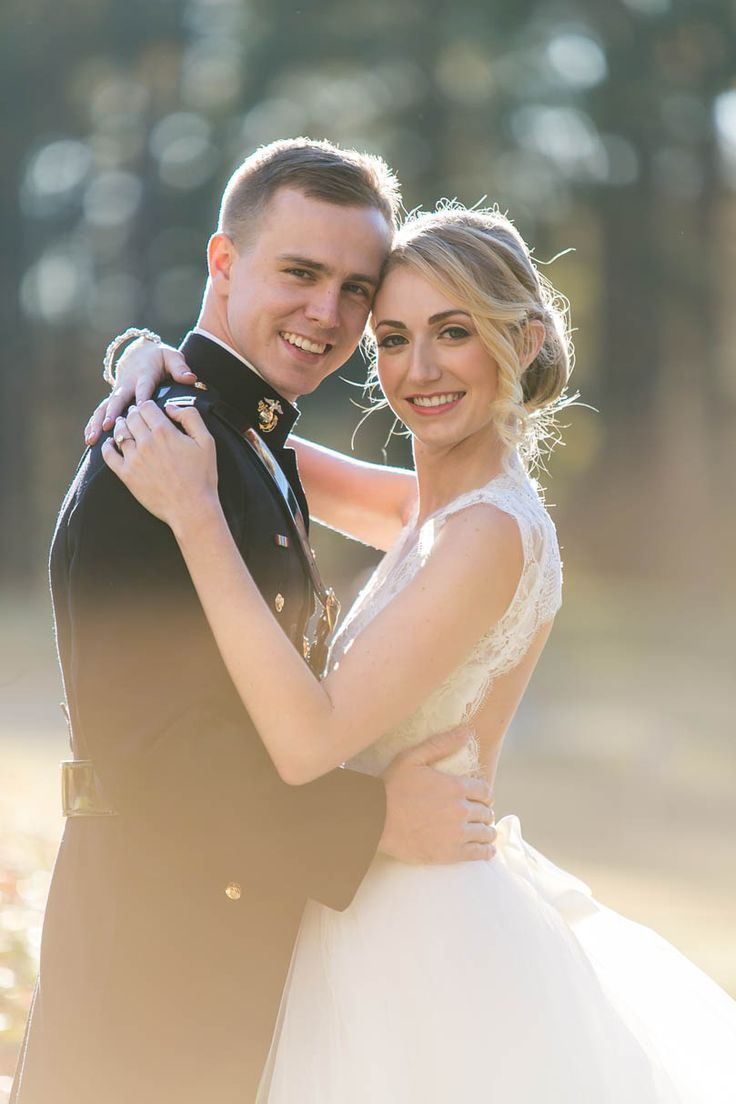 Marine Groom and Bride embrace Traditional military wedding at Duke Chapel | Durham Wedding Venue |  Planned by Nouveau Events @nouveaueventsnc | photography by Renee Sprink  @reneesprink