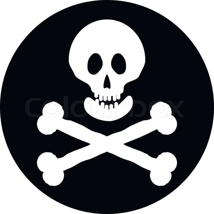 Stock vector of 'Jolly Roger flag button on a white background. Vector illustration.'