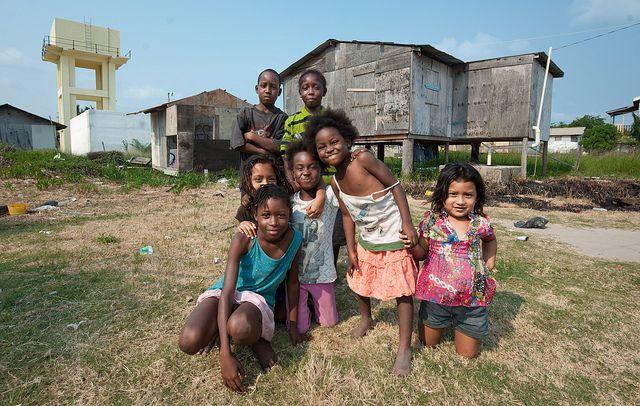 Seine Bight, a Garifuna village on the southern coast.