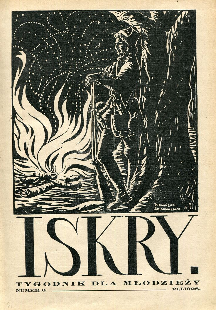 Iskry No. 6, 21.01.1928 Cover by Zofia Plewińska-Smidowiczowa
