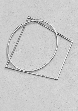 And Other Stories | Geometric Metal Bangles | Silver