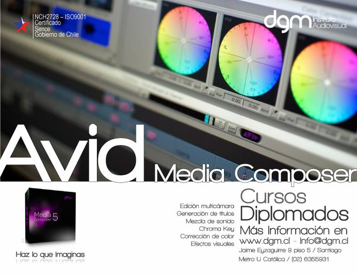 Ingresa a nuestros cursos  de AVID MEDIA COMPOSER .   Más info en link http://www.dgm.cl/index.php?option=com_content&view=article&id=303&Itemid=185   TE ESPERAMOS EN NUESTROS CURSOS A PARTIR DEL MES DE OCTUBRE 2015
