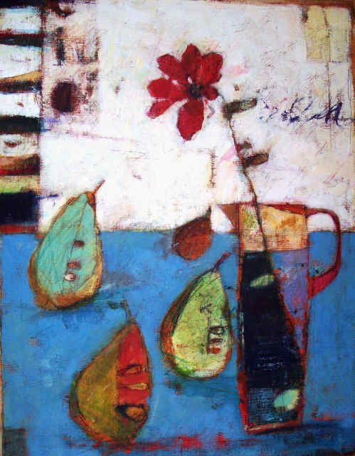 ~ Sally Anne Fitter is a painter who focuses mainly on still life's and Norfolk seascapes. She is a painters painter who creates richly textured surfaces whilst maintaining a strong sense of design and celebrating colour.