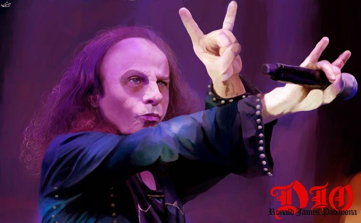 Ronnie James Dio, nome artístico de Ronald James Padavona foi um músico e compositor de heavy metal ítalo-americano, famoso como front-man das bandas Rainbow, Black Sabbath e Dio. É considerado dos melhores vocalistas de todos os tempos pelo seu enorme talento, com técnicas vocais dificílimas e voz marcante, tendo influenciado muitos dos melhores vocalistas da atualidade. Também é conhecido por ter introduzido a mão chifrada, símbolo do rock que representa dois chifres.
