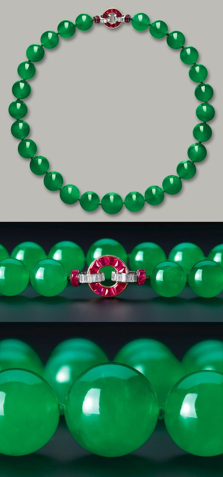 The Barbara Hutton-Mdivani Cartier Jade Necklace, sold at auction in April for $27.4 million.
