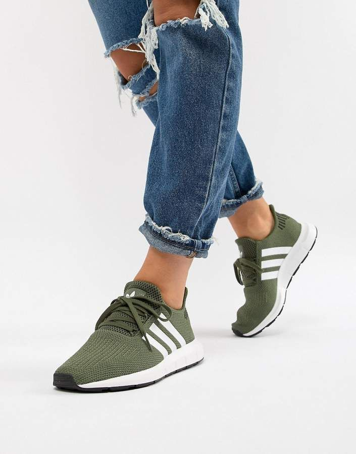 adidas Originals Swift Run Sneakers In Khaki | Стиль с