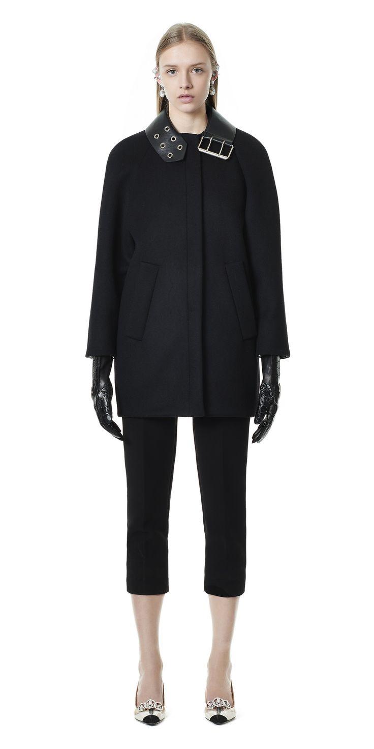 Balenciaga Belt Collar Cocoon Coat