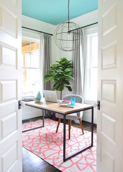 need some feminine and fabulous home office inspiration take a look at these inspiring home bright office