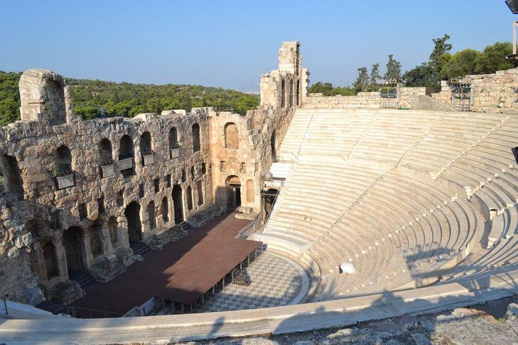 L' Odeion di di Erode Attico è un  teatro in pietra situato sul pendio meridionale dell'Acropoli di Atene. Fu costruito a partire dal 161, in epoca romana, cultura che influenzò l'architettura di questo teatro, infatti l'orchestra è ridotta, la scena è stabile, in muratura, e originariamente doveva essere coperto.