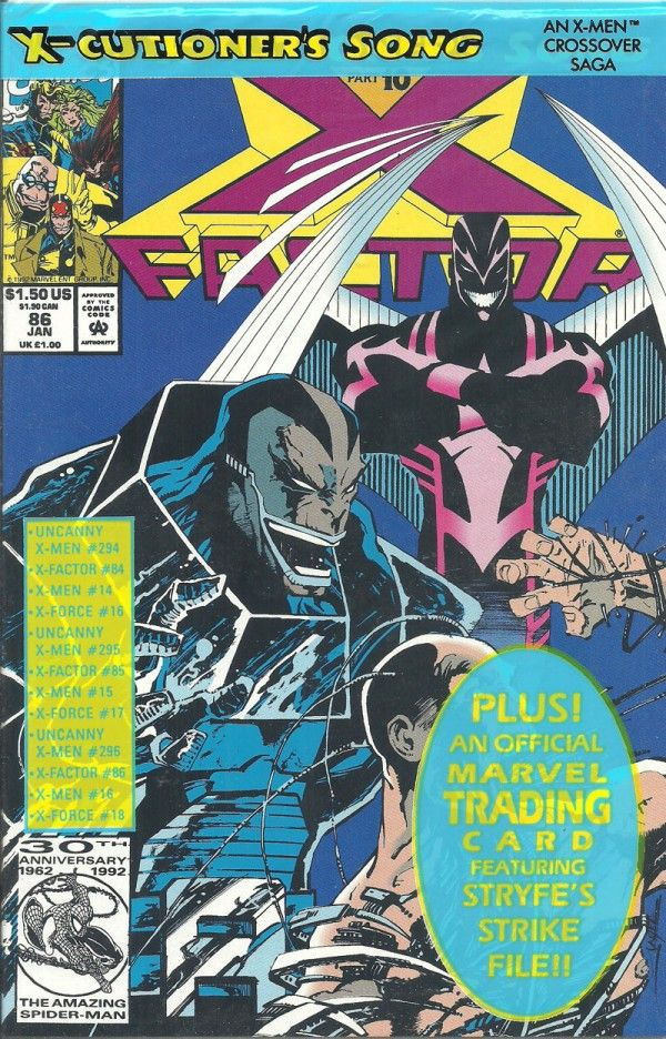 X-CUTIONERS SONG X-FACTOR (Marvel Graphic Novel) - oComics  The X-Men story so big, it took four books to contain it! The X-Cutioner's Song is a crossover storyline published by Marvel Comics' in twelve parts from the November 1992 to early 1993. It involved the X-Men (Volume 2), the Uncanny X-Men, X-Factor, and X-Force.  Read Now: http://ocomics.com/product-category/comics/marvel/  #marvel #comics #online #ocomics #XFACTOR