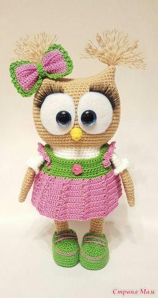 """Приветствую любителей вязаной игрушки! Сегодня мы начнем вязать эту милую Совушку по описанию Ирины Безелянской спасибо ей большое за разрешение связать здесь, в нашей группе """"Амигуруми"""""""