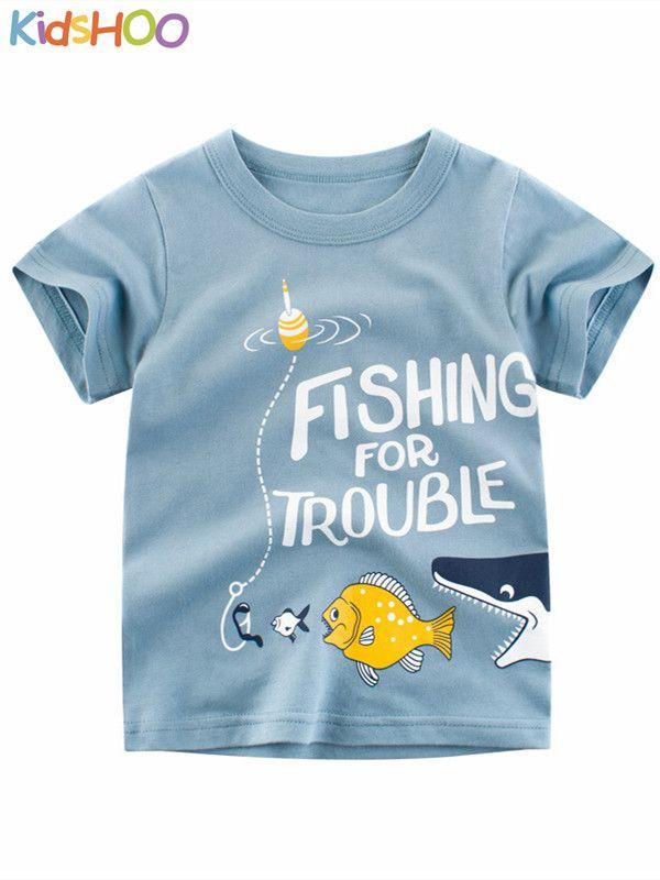 Baby Boy Shark Doo Doo Doo Short Sleeve Clothes for Boy Girl Toddle Kids T-Shirt Tops Blouse