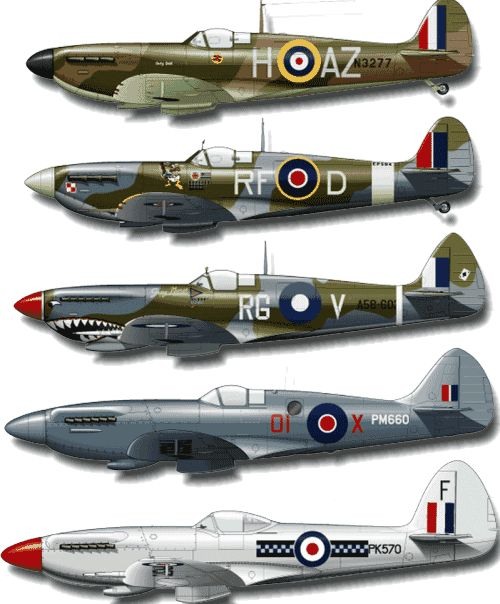 Supermarine Spitfire from the RAF in WWII - tests began in 1936 and the last one was built in 1948 yet many still fly today and the sound of that Rolls-Royce Merlin engine is unmistakable.