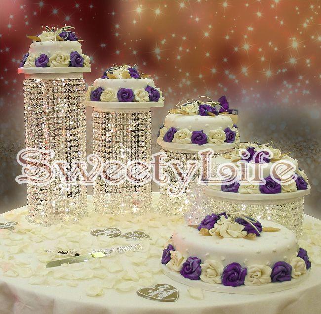 Cheap 4 unids/set cristal torta de boda del soporte central de la boda Wedding…