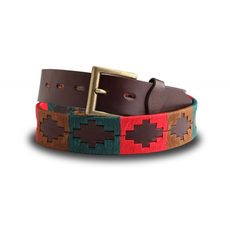 Royal Tank - compliments the autumn outfit with rustic colours of red, green and brown. Wear it with cords and a cosy cashmere…..  gauchobelts.co.uk/royal-tank-regiment