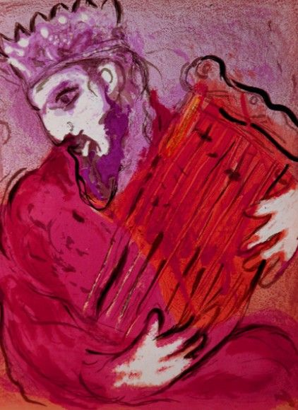 "Marc Chagall - ""David with his harp"", 1956"