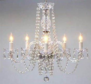 This beautiful Chandelier is trimmed with Empress Crystal(TM) A Great European Tradition. Nothing is quite as elegant as the fine crystal chandeliers that gave