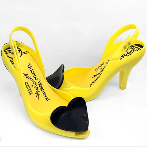 Vivienne Westwood Melissa Shoes Dragon Jelly Slingback yellow
