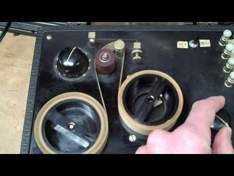 ▶ Instructograph Morse Code Trainer Demo - 1947 - YouTube