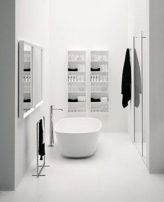 ♂ Minimalist modern black and white bathroom interior design Materia Collection by antoniolupi