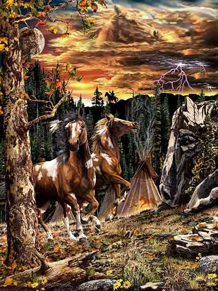 Hidden 14 horses images by Stephen Michael Gardner will expand your mind and balance your brain hemispheres.