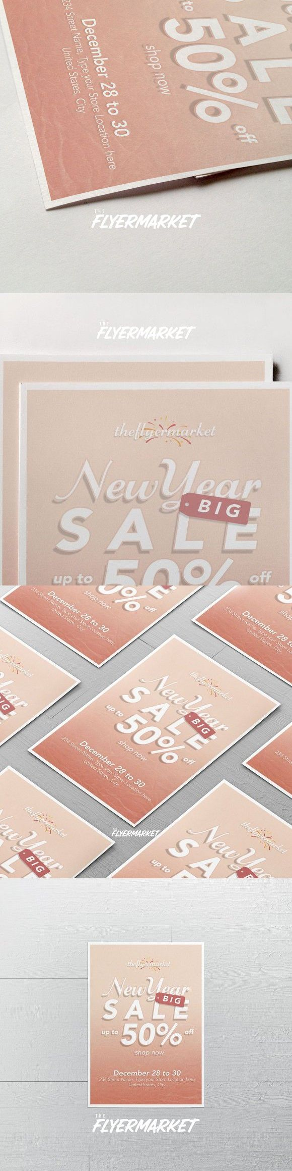 New Year Sales Flyer Template