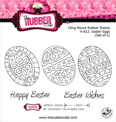 Easter Eggs - Cling Mount Rubber Stamp Set from The Rubber Cafe