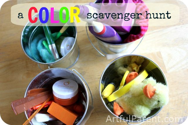 Color Scavenger Hunt for Kids Just looking for things for Ashley to do after daycare today!