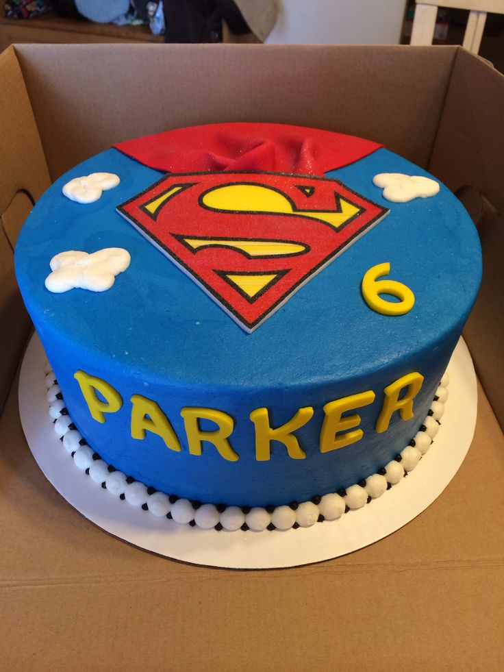 Superman Birthday Cake My Cakes Pinterest Birthday