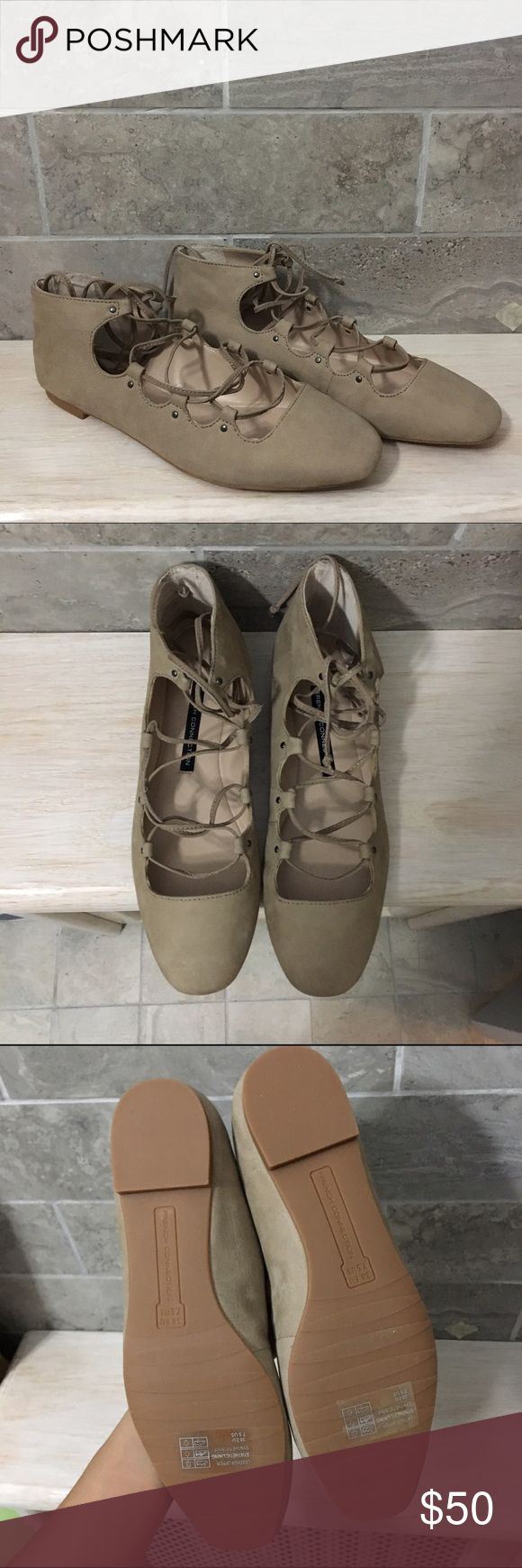 FRENCH CONNECTION Lace-Up Ballet Flats 7.5 Brand new with original box. French Connection Shoes Flats & Loafers