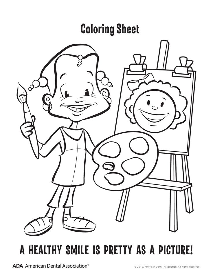 dental hygiene coloring pages - photo#4