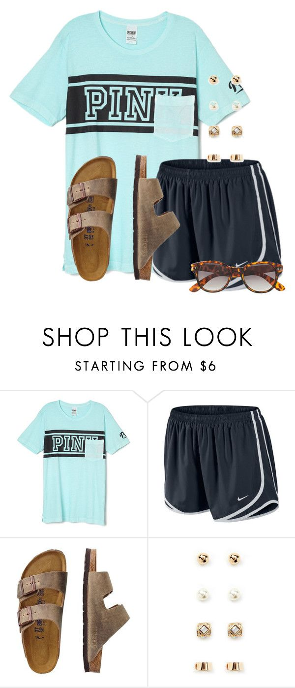 """""""Gotta pack for Orlando soon"""" by flroasburn ❤ liked on Polyvore featuring Victoria's Secret, NIKE, TravelSmith, Forever 21 and H&M"""