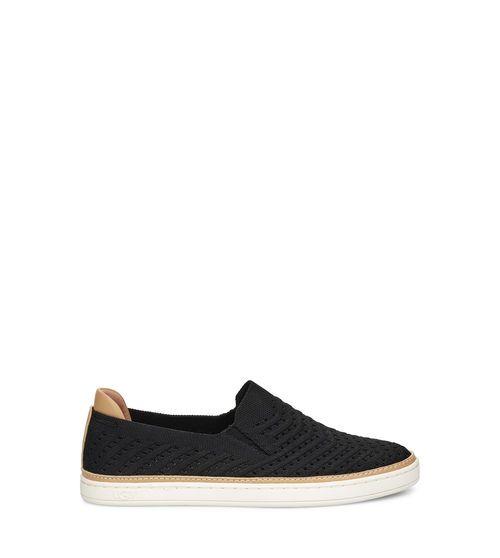 UGG Women's Sammy Chevron Sneaker Cotton Blend In Black, Size 10
