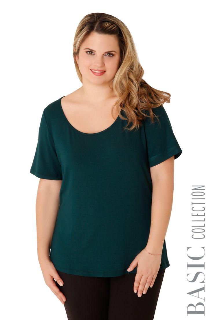 Βισκόζ κοντομάνικη μπλούζα - Ρούχα | XLcloset