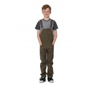 Green Dungarees for kids Age 6-12. Check lining inside bib and on turn ups. #overalls #dungarees #kidsfashion