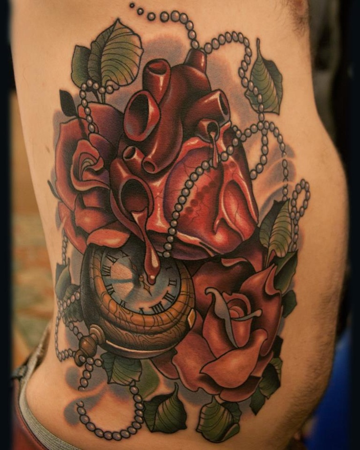 Killer new school piece by timmy b at black 13 tattoo for Shading tattoo pain