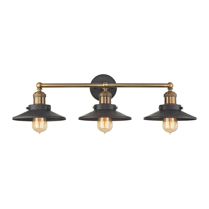 ELK Lighting 67182/3 English Pub Collection Antique Brass,Tarnished Graphite Finish