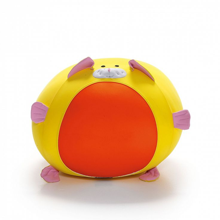 Animals Bezzu expandable pouf for kids. Rabbit shape, flamboyant colours.