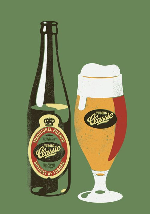 Tuborg Classic - Love this design - simple look, made with incredible talent #logobrand