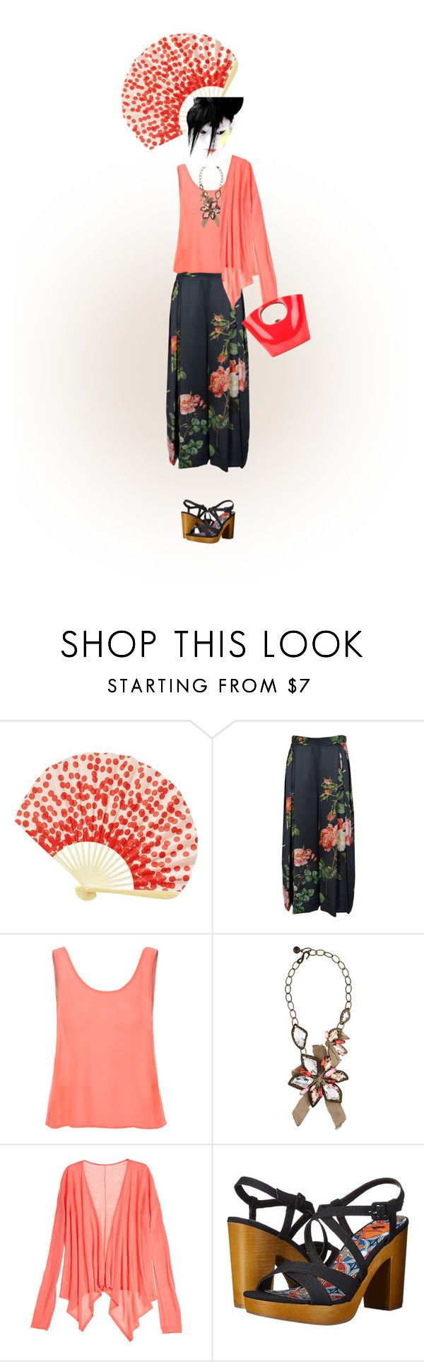 """""""I'm Craving Salmon!"""" by petalp ❤ liked on Polyvore featuring HAY, Glamorous, Lanvin, Calypso St. Barth, Rocket Dog, Rocio, women's clothing, women, female and woman"""