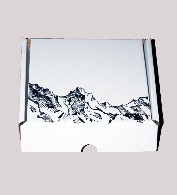 Design box - Mountains, Permanent marker drawing by Kölyök