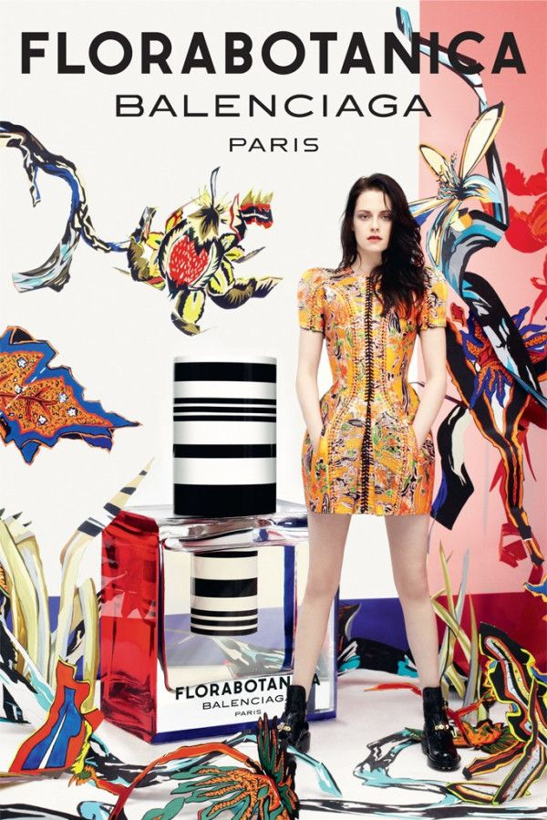 At first glance I did not like it but I looked again. And again. Its just a crazy ad.  Kristen Stewart for Balenciaga Florabotanica.
