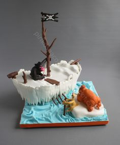 Ice Age 4  Ice Age 4 Ice Age 4 Cake  #ice-age #diego #sid #manny #cakecentral